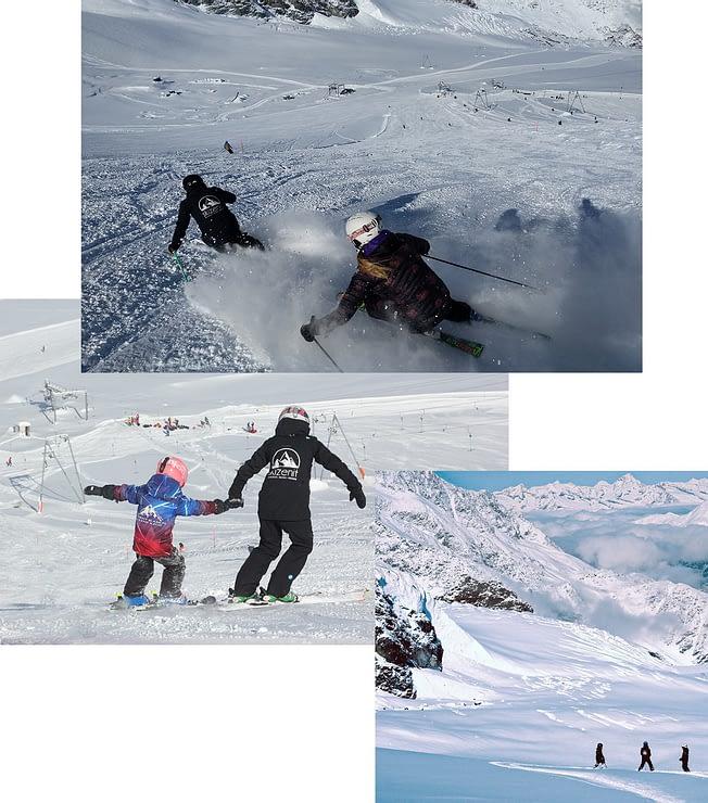 Notre méthodologie es la clé des nos cours de Ski Zenit